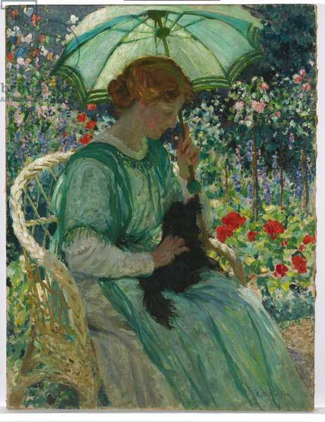The Green Parasol, 1912 (oil on canvas)