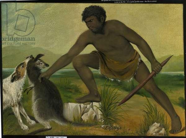 Native taking a kangaroo, 1837 (oil on canvas)