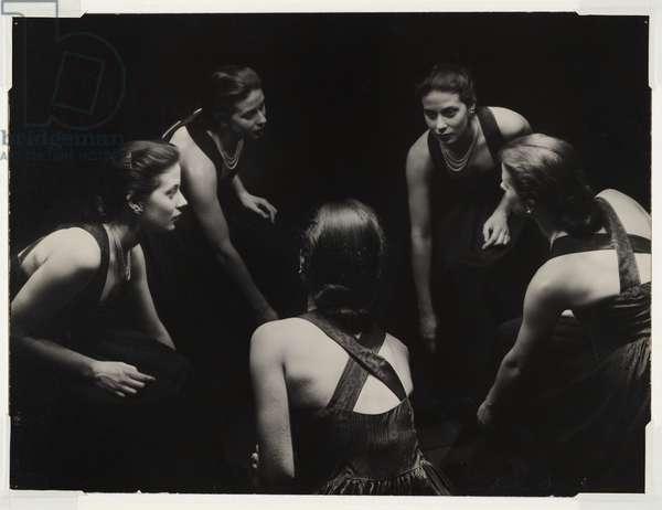Portrait in mirrors, 1938 (gelatin silver photo)