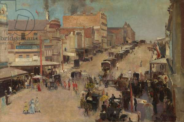 Allegro con brio, Bourke Street west, c.1885-86 (oil on canvas)