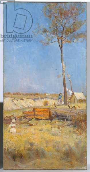 Under a southern sun (Timber splitter's camp) 1890 (oil on canvas)
