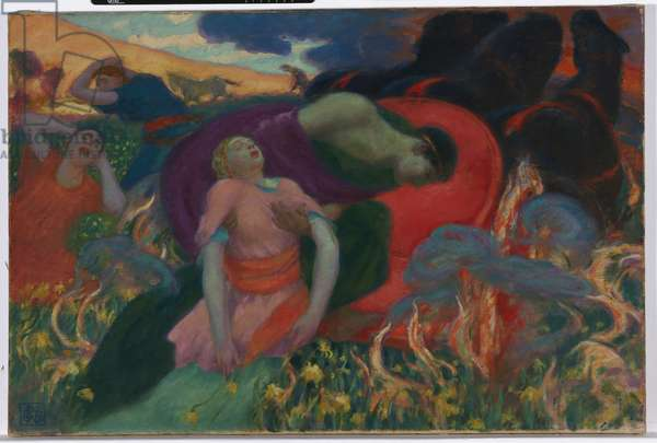 The Rape of Persephone, c.1913 (oil on canvas)