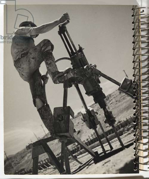 Worker with drill, 1942-44 (gelatin silver photo)