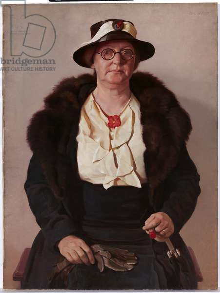 Portrait of the artist's mother, 1937 (oil on canvas)