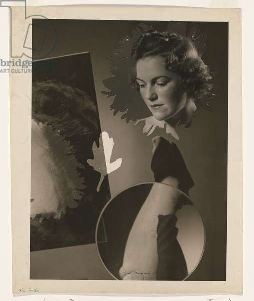 Surreal portrait for the Home - 'Spliced invasion of the three dimensions' (Miss Lesley Curtis) 1938 (gelatin silver photo)