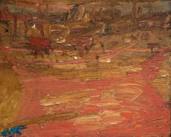 View from Primrose Hill, 1962 (oil on board)