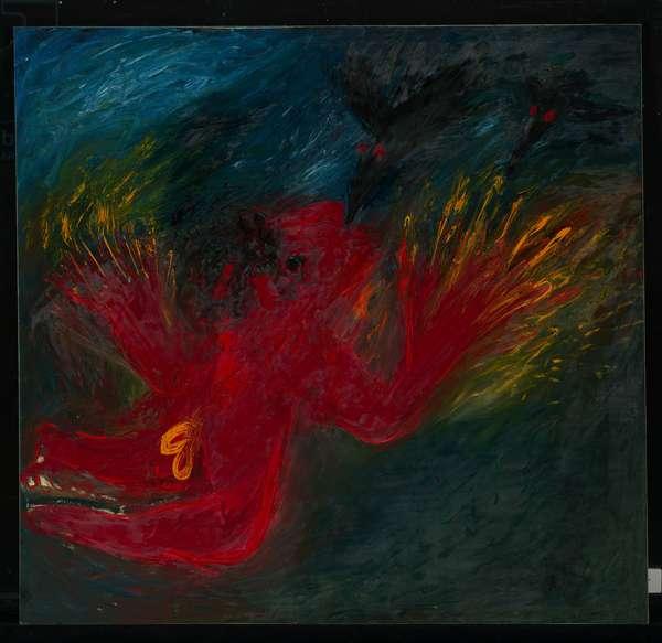 Red Nebuchadnezzar with Black Birds, 1969 (oil on canvas)