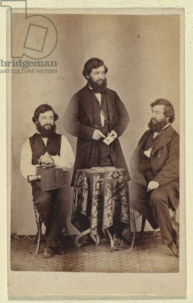 Triple self portrait, 1865 (albumen silver photo)
