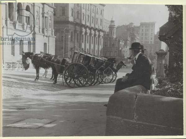 Cabbies, 1904 (gelatin silver photo)