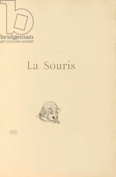 La Souris, illustration from 'Histoires naturelles' by Jules Renard, 1897 (brush transfer litho)