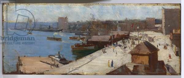 Circular Quay, 1892 (oil on wood panel)