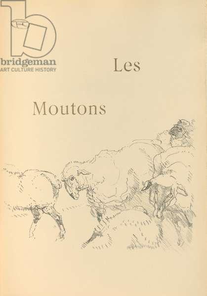 illustration from 'Histoires naturelles' by Jules Renard, 1897 (brush transfer litho)