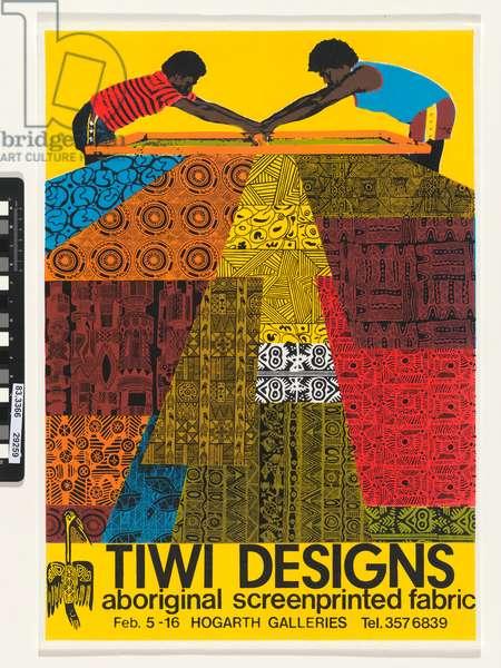 Exhibition poster: Tiwi designs, Hogarth Galleries, 1982 (screenprint)