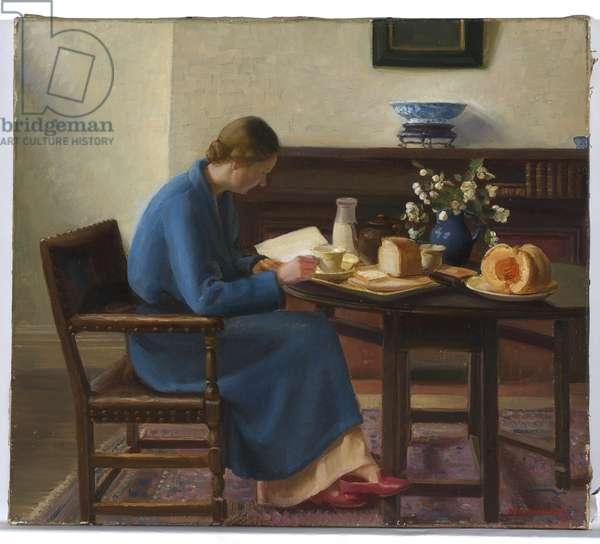 London Breakfast, 1935 (oil on canvas)
