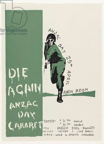 Die again, Anzac Day cabaret, c.1980 (colour litho)