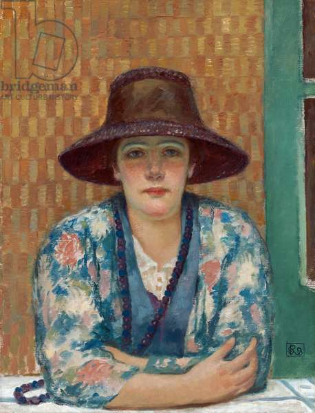 Woman in a brown hat: the artist's wife, c.1917 (oil on canvas)