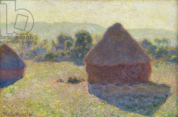 Haystacks, midday, 1890 (oil on canvas)