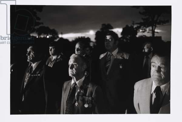 Dawn service, Anzac Day, Thirroul, New South Wales, c.1978 (gelatin silver photo)