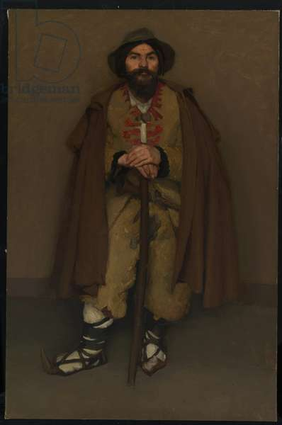 A mountain shepherd (An Italian dwarf) 1901 (oil on canvas)
