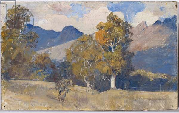 Under Ben Lomond, c.1925-27 (oil on wood panel)