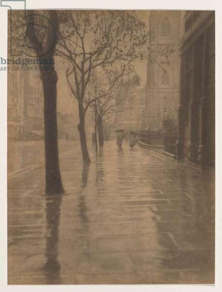 Collins Street, Melbourne, 1917 (bromoil photo)
