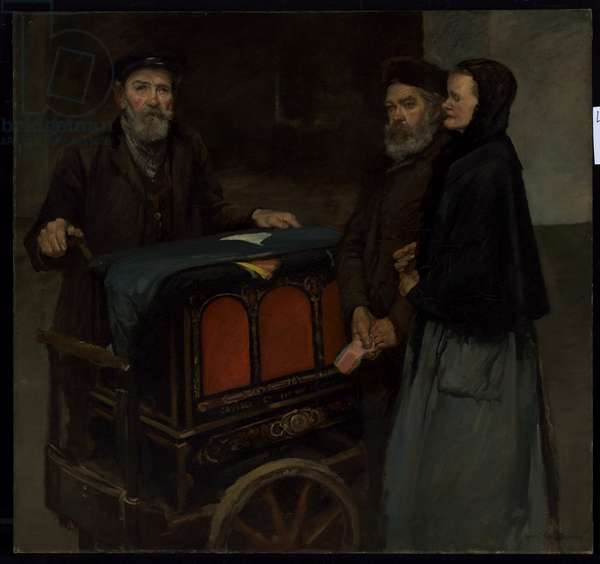 The Organ Grinder, c.1903 (oil on canvas)