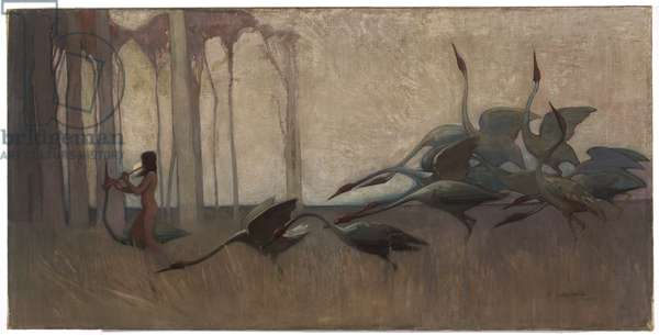 The Spirit of the Plains, 1914 (oil on canvas)