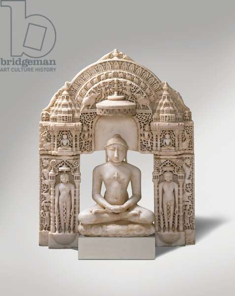 Seated Jina, Mount Abu region, Rajasthan, 1163 (marble)