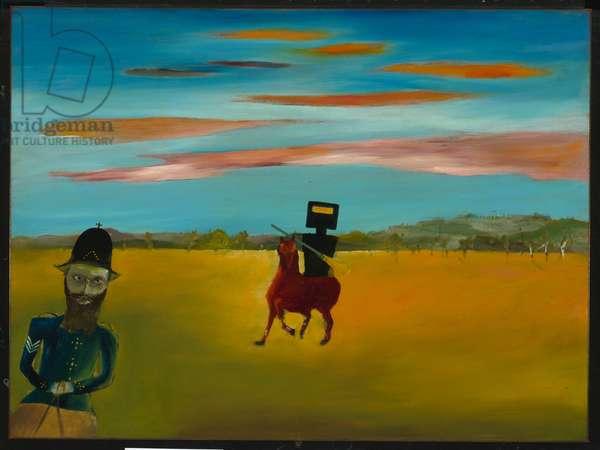 The Encounter, 1946 (enamel on composition board)