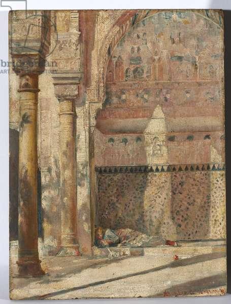 Basking - a corner of the Alhambra, 1883 (oil on panel)