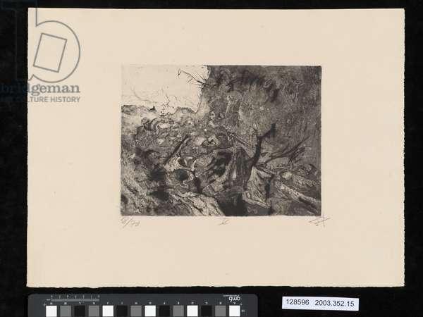 Abandoned position near Vis-en-Artois, illustration from the portfolio 'Der Krieg', 1924 (aquatint & drypoint)