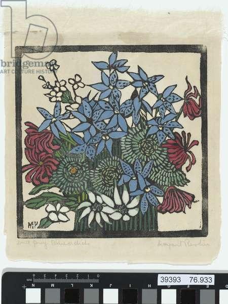 Floral, still life, 1925 (colour woodblock)
