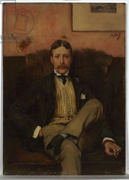 J. Montgomery, Esquire, 1885 (oil on wood panel)