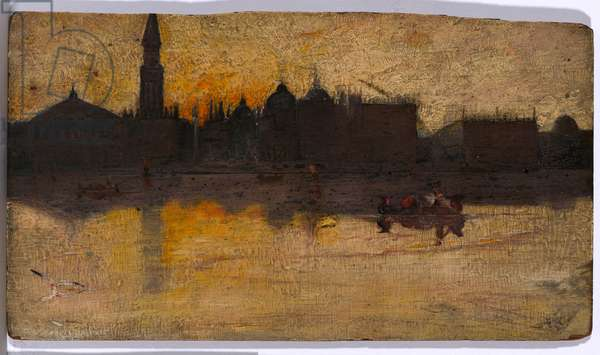 Gray Day in Spring, Venice, 1884 (oil on wood panel)