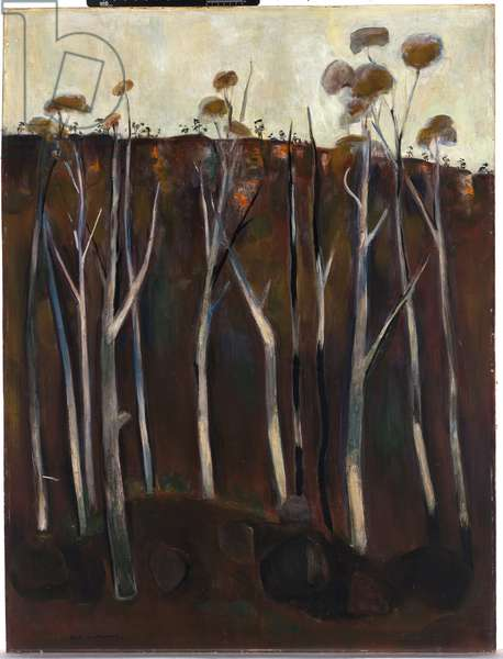Rocky Landscape, c.1965 (oil on composition board)