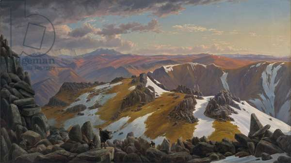 North-east view from the northern top of Mount Kosciusko, 1863 (oil on canvas)