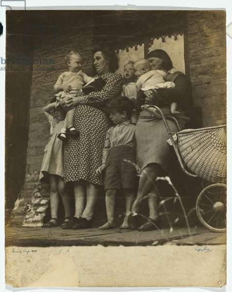 Families awaiting eviction, 1945 (gelatin silver photo)