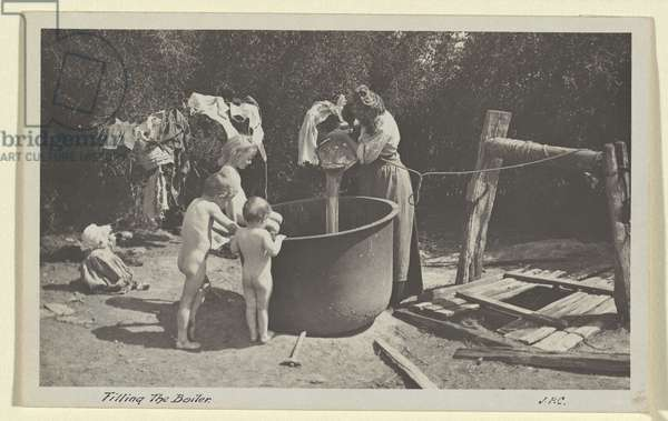 Filling the boiler, 1905 (gelatin silver photo)