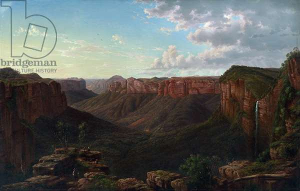 Govett's Leap and Grose River Valley, Blue Mountains, New South Wales, 1873 (oil on canvas)