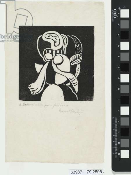 'A translation from Picasso' (woodblock print)
