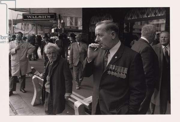 Anzac Day, Melbourne, 1975 (gelatin silver photo)