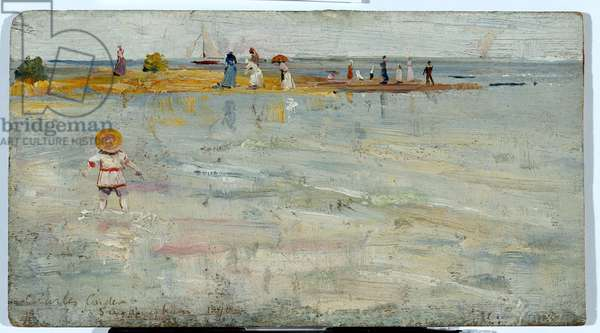 Ricketts Point, Beaumarais, 1890 (oil on wood panel)