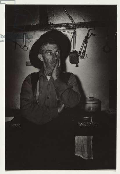 Rabbit trapper, c.1947 (gelatin silver photo)