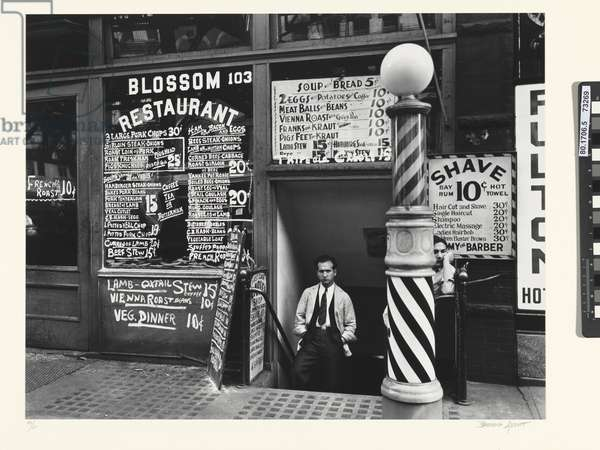 Blossom Restaurant, 103 Bowery, Lower East Side, 1935 (gelatin silver photo)