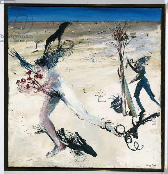 Running figure held by shadow, 1973 (oil on canvas)