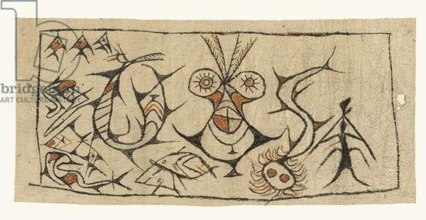 Maro [bark cloth], Sentani people, Papua province, late 19th - early 20th century (mixed media)