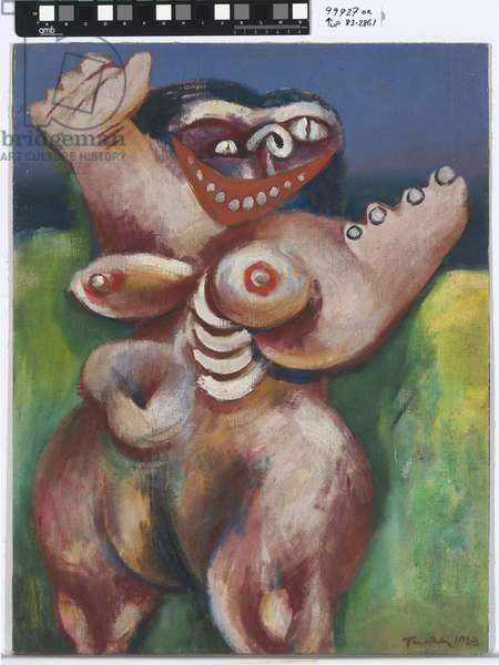 Image of modern evil: Female figure, 1943 (oil on canvas on composition board)