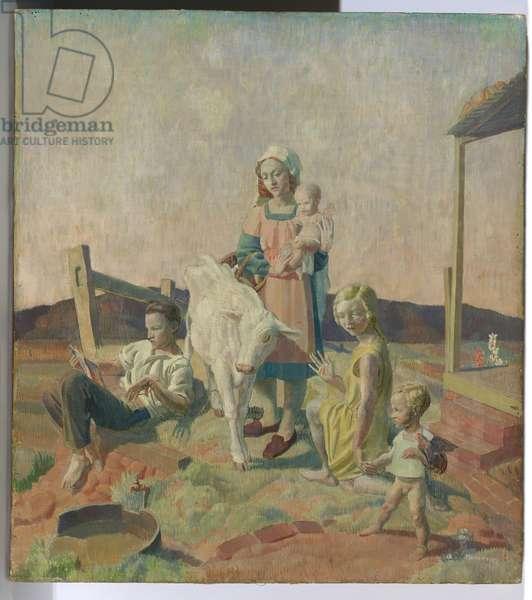 The Calf, 1929 (egg tempera on canvas on board)