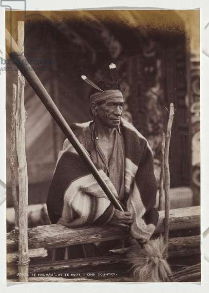 Te Hauhau, at Te Kuiti, King Country, 1885 (albumen silver photo)