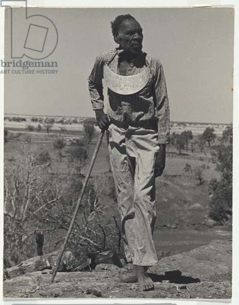 Paddy, king of Ord River, 1947 (gelatin silver photo)